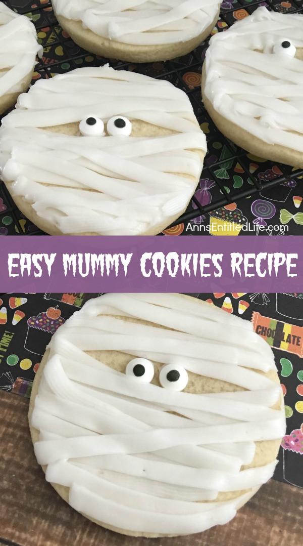 Recipe For Halloween Cookies  Mummy Cookies Recipe