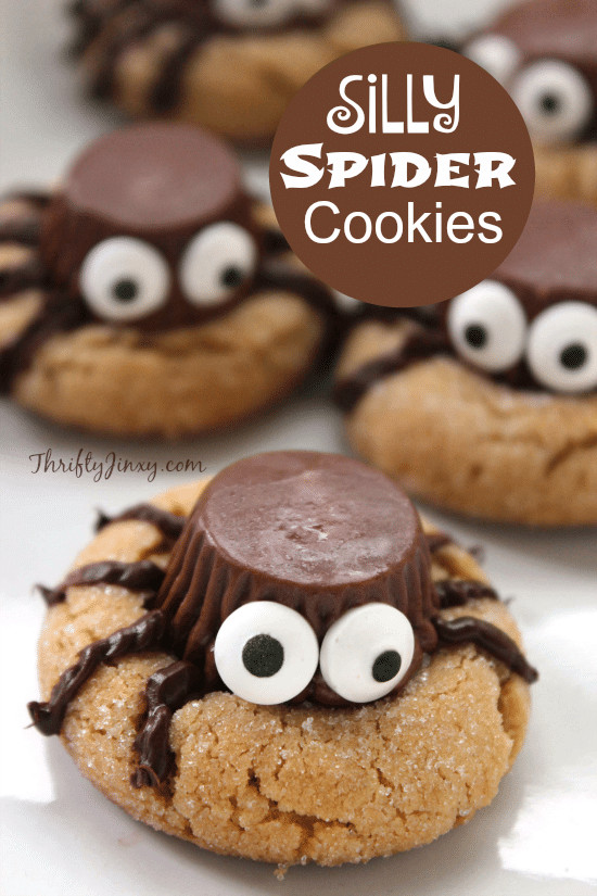 Recipe For Halloween Cookies  Silly Halloween Spider Cookies Recipe Thrifty Jinxy