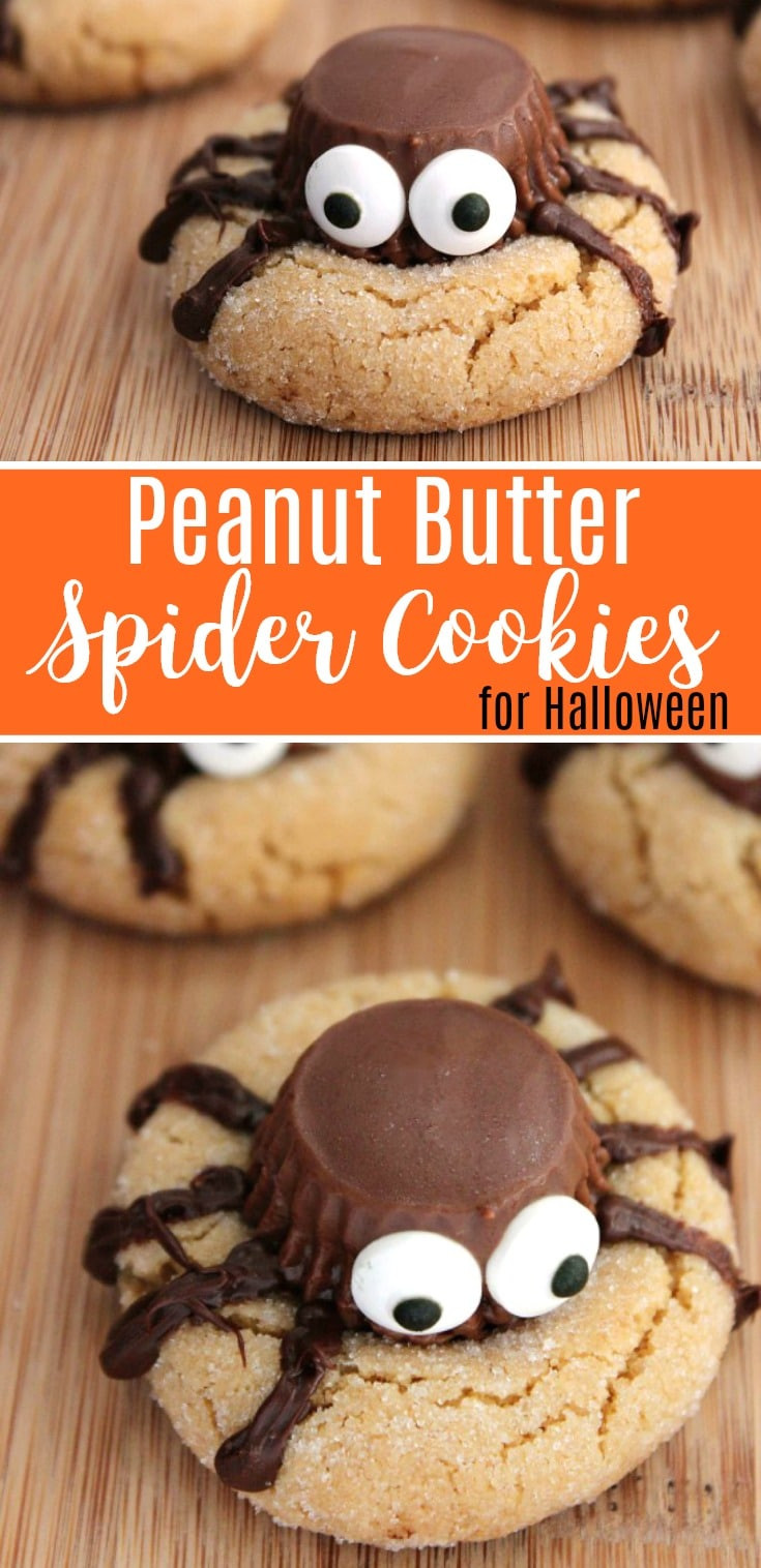 Recipes For Halloween Cookies  Halloween Peanut Butter Spider Cookies Recipe
