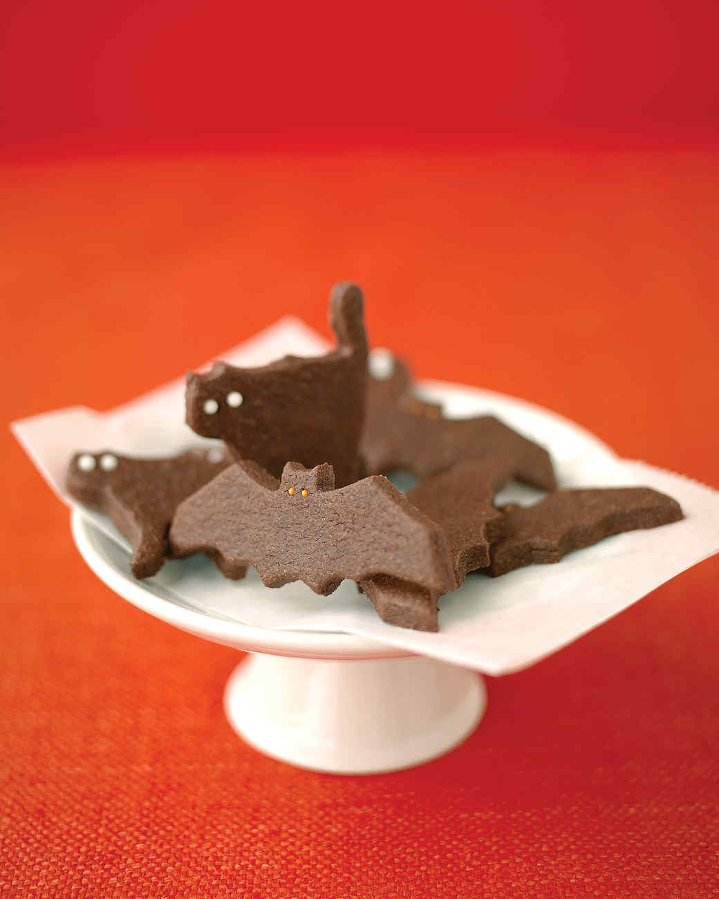 Recipes For Halloween Cookies  Ghostly Bat and Cat Cookies Recipe