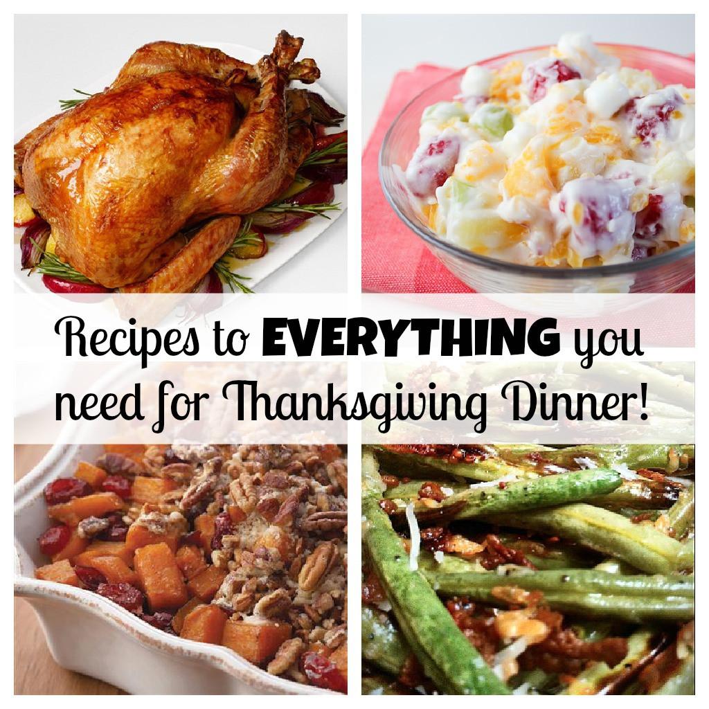 Recipes For Thanksgiving Dinner  Your PLETE Thanksgiving dinner with recipes for
