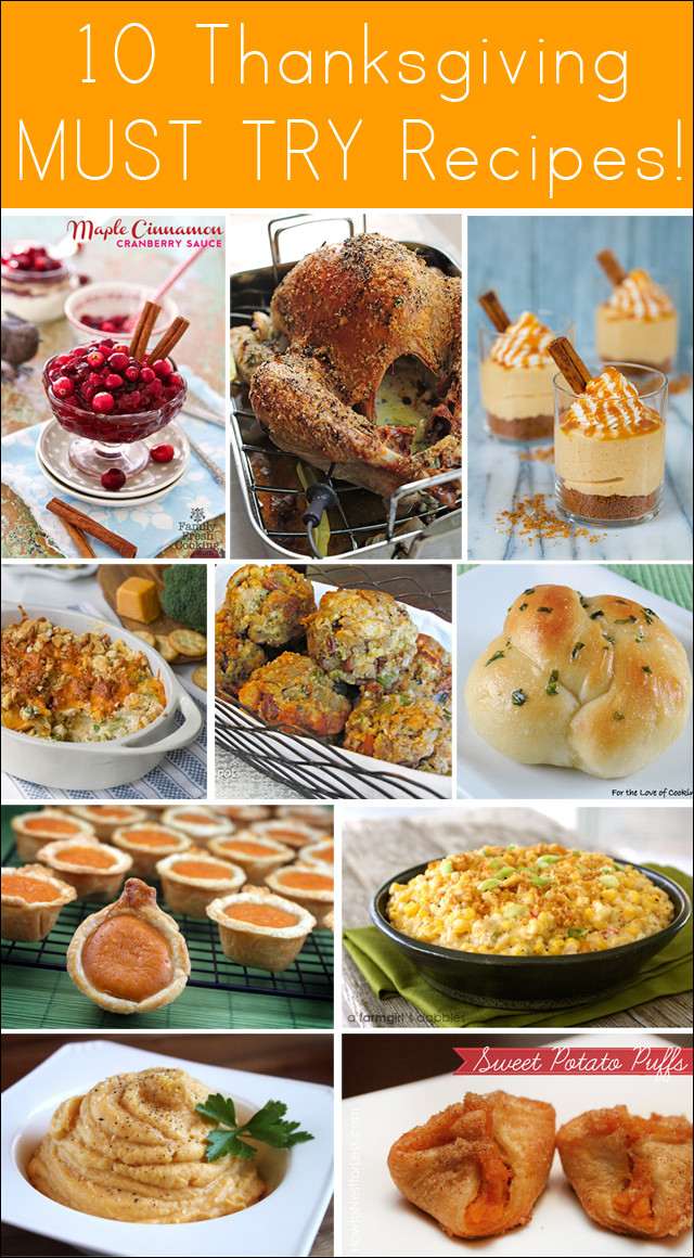 Recipes For Thanksgiving Dinner  10 Amazing Thanksgiving Recipes Thanksgiving Dinner Ideas