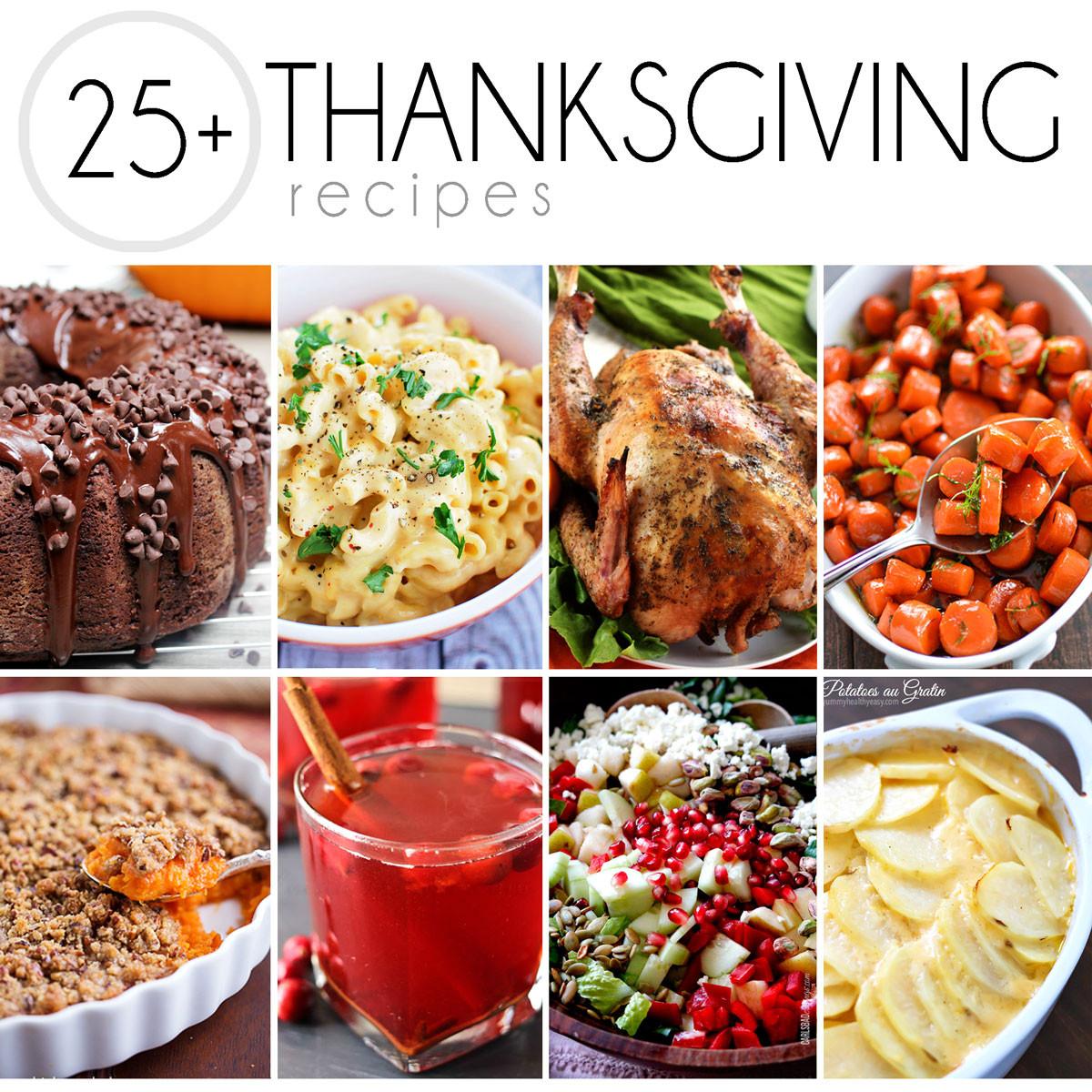 Recipes For Thanksgiving Dinner  25 Thanksgiving Recipes