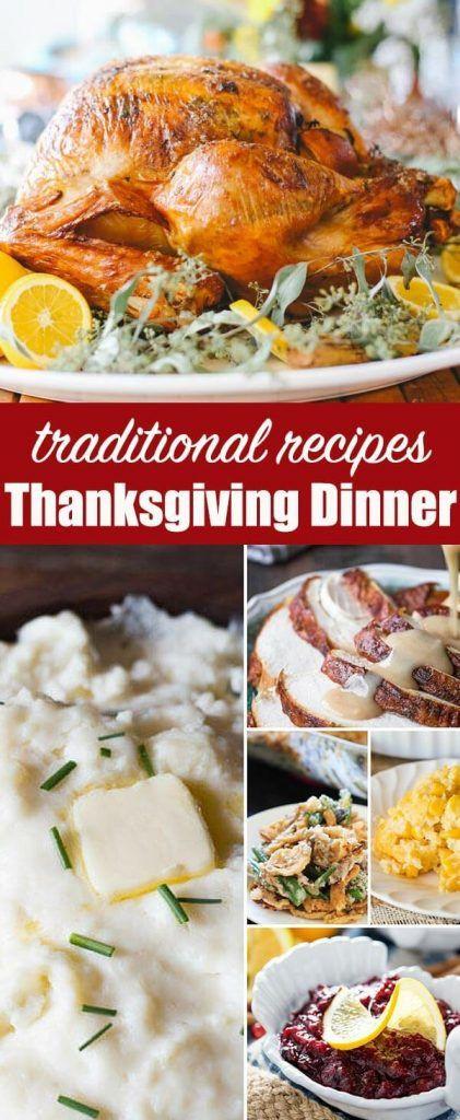 Recipes For Thanksgiving Dinner  Best 25 Traditional thanksgiving dinner ideas on
