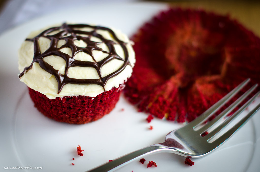 Red Velvet Halloween Cupcakes  A spooky Halloween treat Red velvet cupcakes