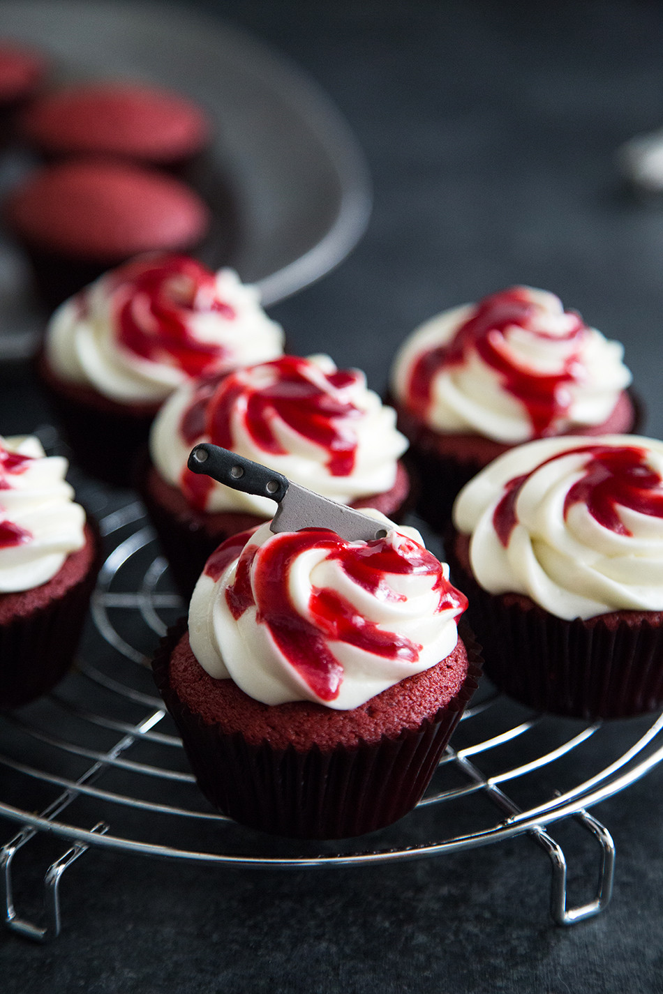 Red Velvet Halloween Cupcakes  Bloody Red Velvet Cupcakes The Little Epicurean