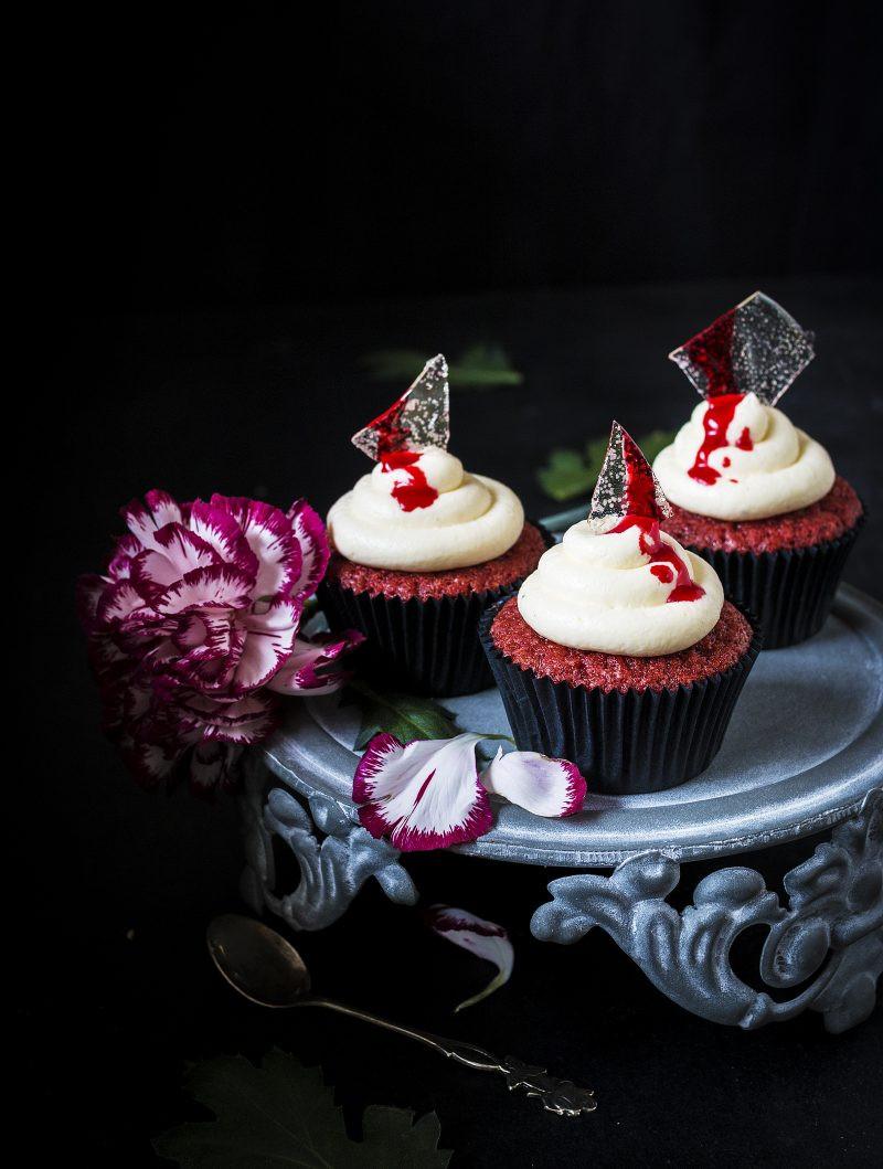 Red Velvet Halloween Cupcakes  Red Velvet Halloween cupcakes – Emma Ivane