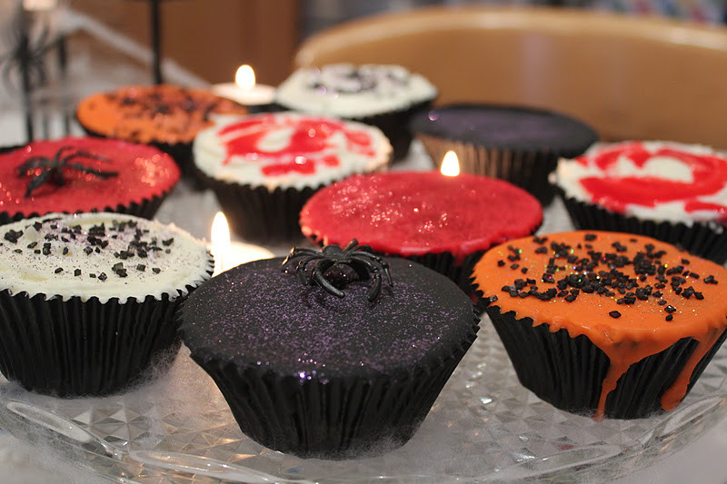 Red Velvet Halloween Cupcakes  Vanilla Clouds and Lemon Drops Creepy Cupcakes Red Velvet