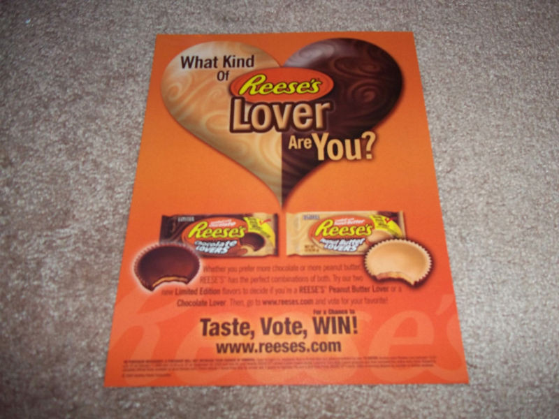 Reese'S Christmas Candy  REESE S CHOCOLATE PEANUT BUTTER LOVERS AD 2005 COOL