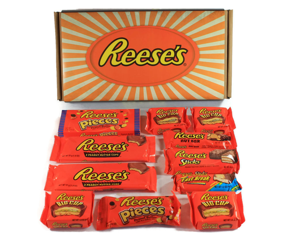 Reese'S Christmas Candy  Reese s Peanut Butter Chocolate Selection Gift Box Hamper