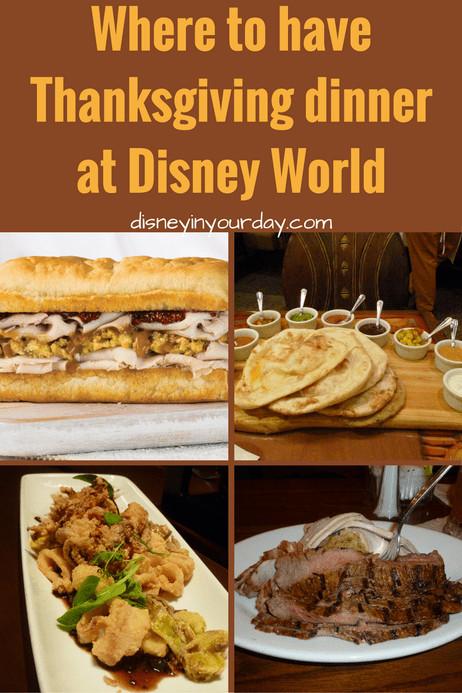Restaurants Serving Thanksgiving Dinner 2019  Thanksgiving Dinner at Disney World Disney in your Day