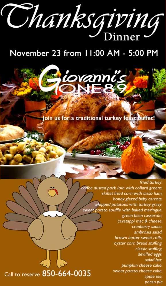 Restaurants Serving Thanksgiving Dinner 2019  Wel e to Giovanni s e89 850 664 0035