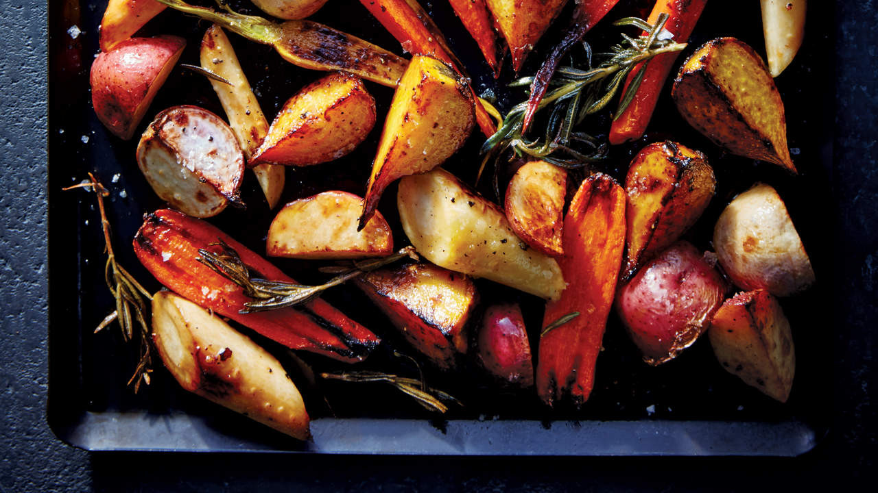 Roasted Fall Root Vegetables  Healthy Thanksgiving Recipes With Fresh Fall Ve ables