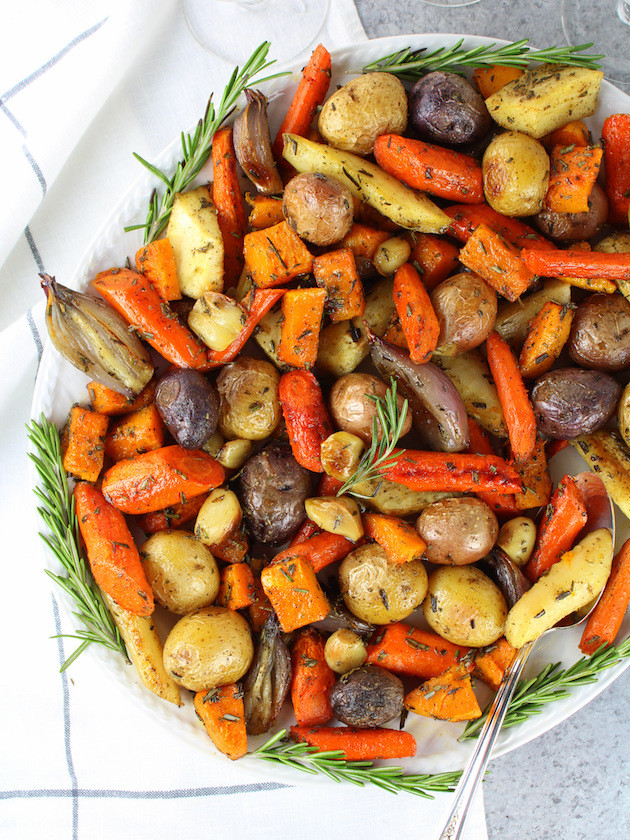 Roasted Fall Root Vegetables  Roasted Fall Ve ables with Rosemary