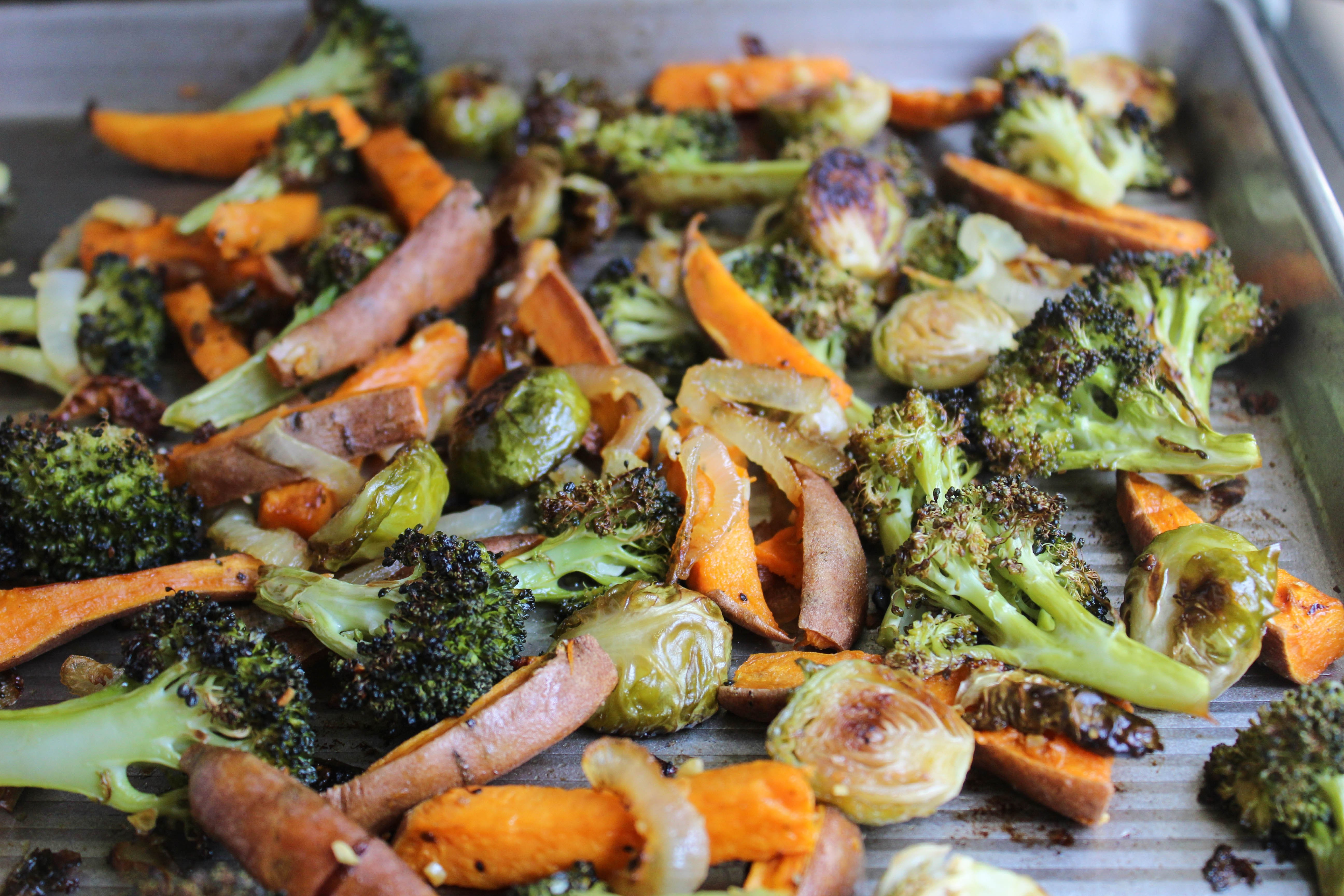 Roasted Fall Vegetables Best Recipes Ever  The BEST Garlic Roasted Veggies What s The Oven For