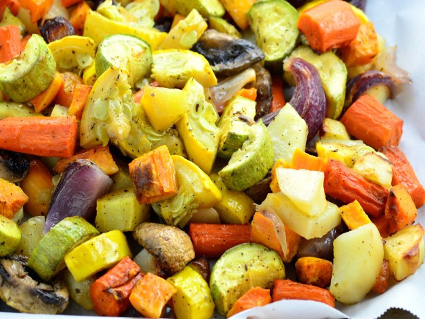 Roasted Fall Vegetables Best Recipes Ever  Thanksgiving Potluck Recipes And Dish Ideas Genius Kitchen