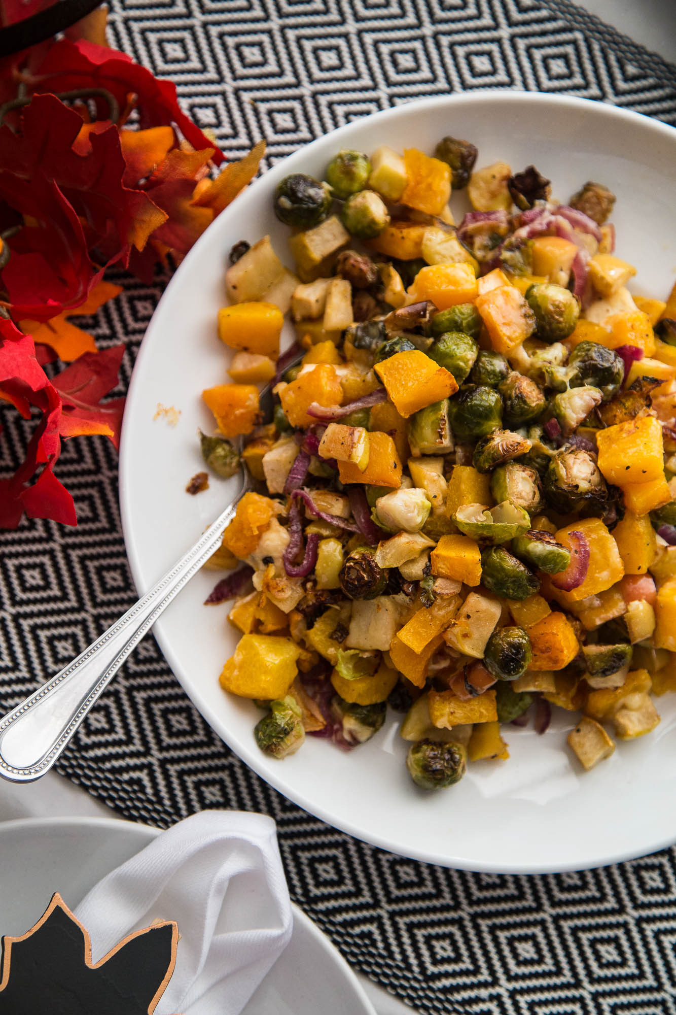 Roasted Fall Vegetables Recipe  Roasted Fall Ve ables with Apples & Gouda Perry s Plate