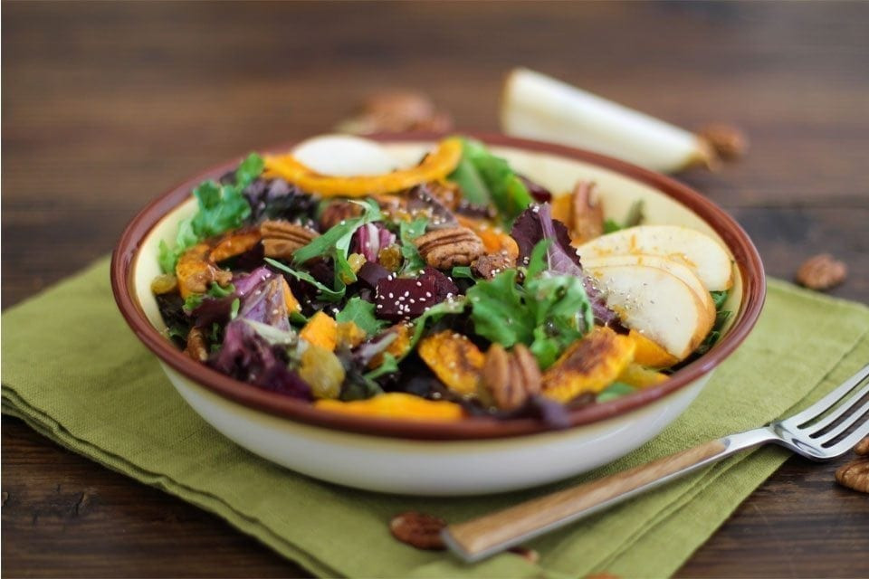 Roasted Fall Vegetables Recipe  Roasted Fall Ve able Salad with Maple Orange Cinnamon