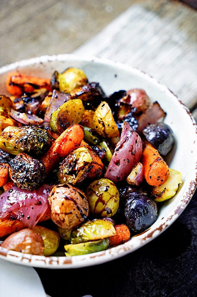Roasted Fall Vegetables Recipe  Easy Roasted Ve ables with Honey and Balsamic Syrup