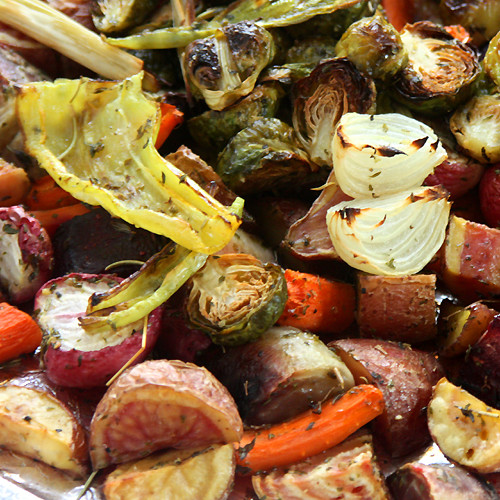 Roasted Fall Vegetables Recipe  Foy Update Roasted Ve ables with Polenta Fall Recipe