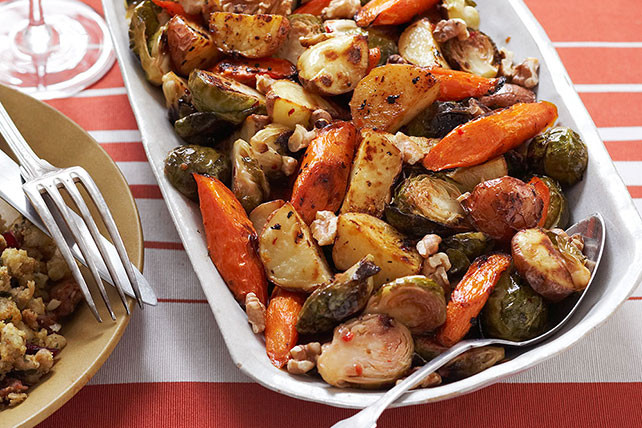 Roasted Fall Vegetables Recipe  Roasted Winter Ve able Trio Kraft Recipes