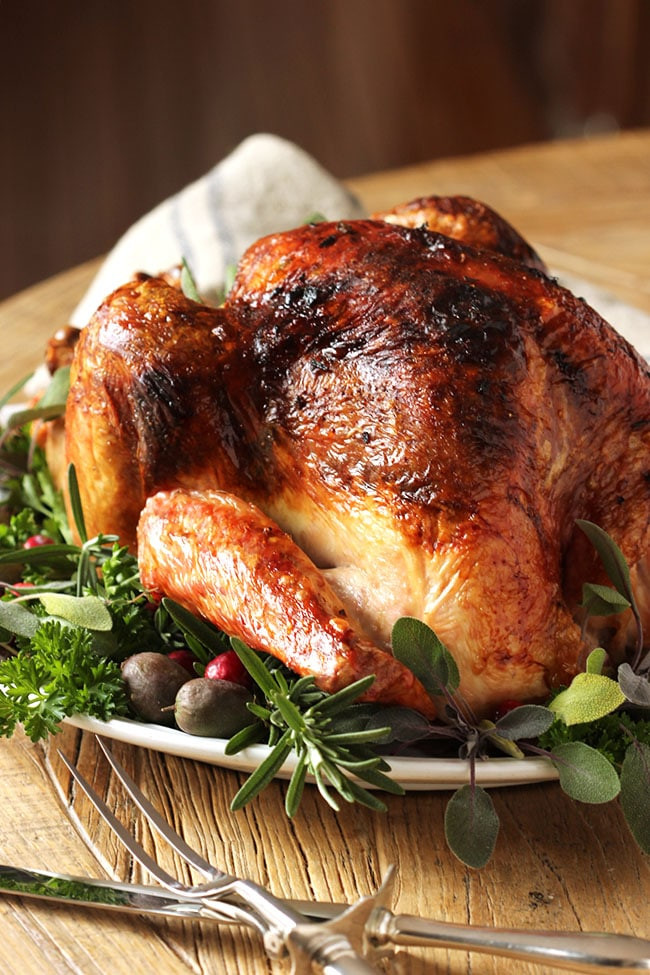 Roasted Thanksgiving Turkey  Citrus and Herb Butter Roast Turkey Recipe The Suburban