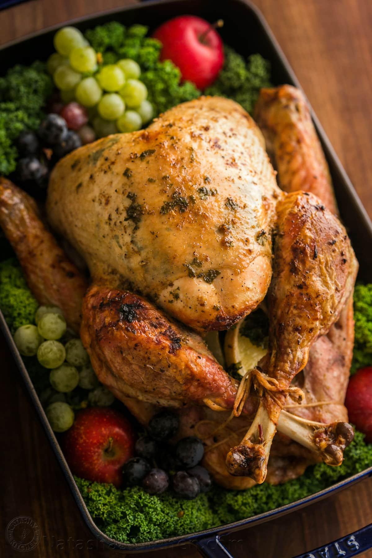 Roasted Turkey Recipes Thanksgiving  Thanksgiving Turkey Recipe VIDEO NatashasKitchen