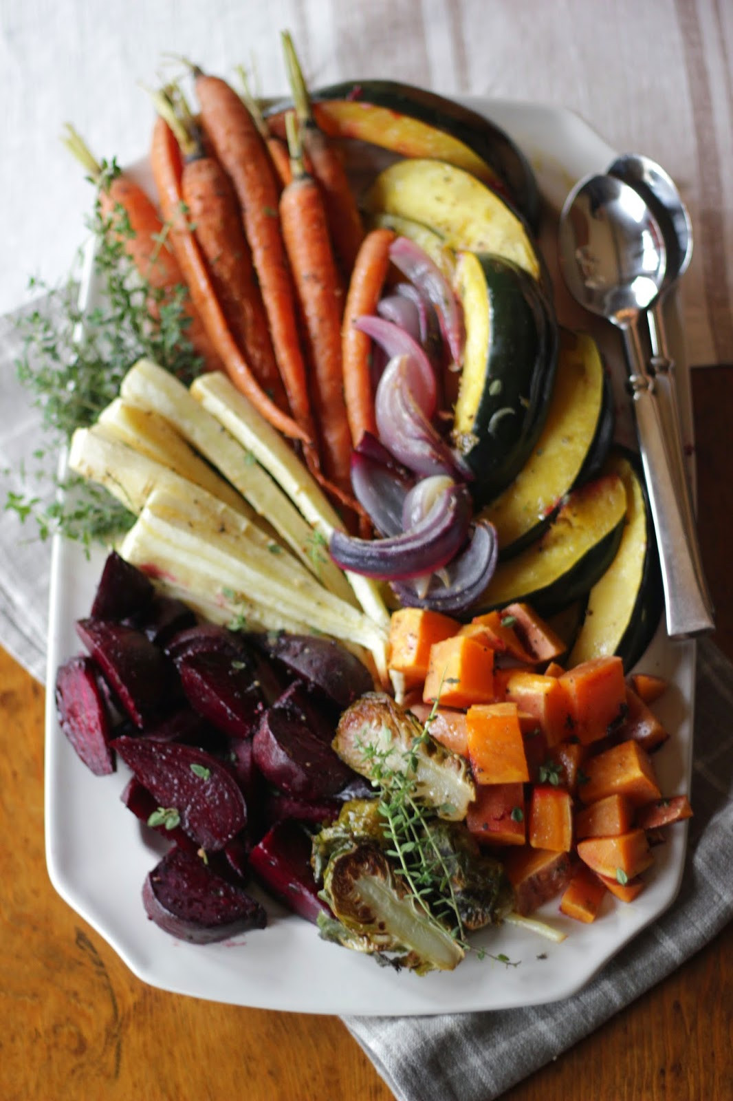 Roasted Vegetables For Thanksgiving  Jenny Steffens Hobick Roasted Root Ve able Platter with