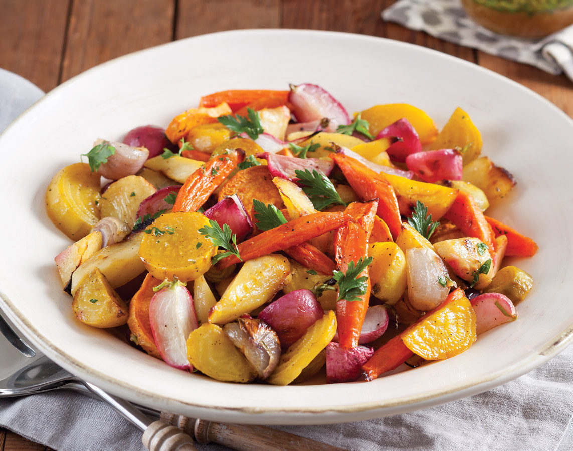 Roasted Vegetables Thanksgiving  Roasted Root Ve ables Taste of the South Magazine