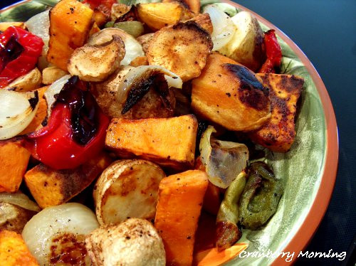 Roasted Vegetables Thanksgiving  Cranberry Morning Thanksgiving Roasted Ve ables Recipe