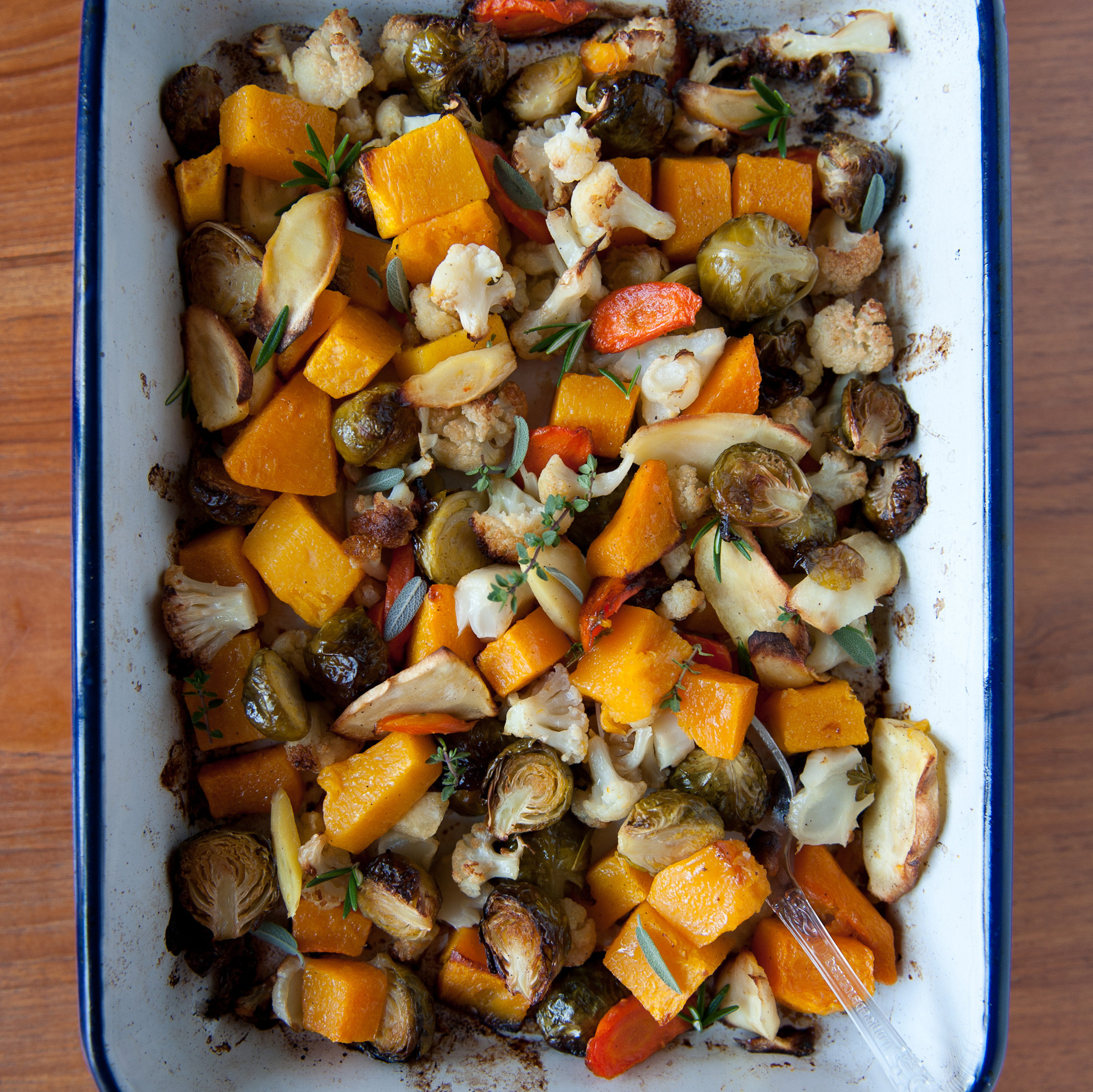 Roasted Vegetables Thanksgiving  Roasted Ve ables with Fresh Herbs Recipe Melissa Rubel