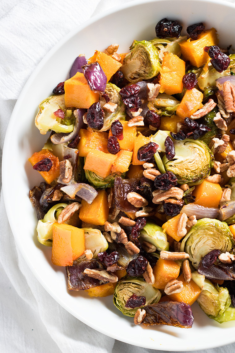 Roasted Vegetables Thanksgiving Recipe  Cranberry Pecan Roasted Ve ables