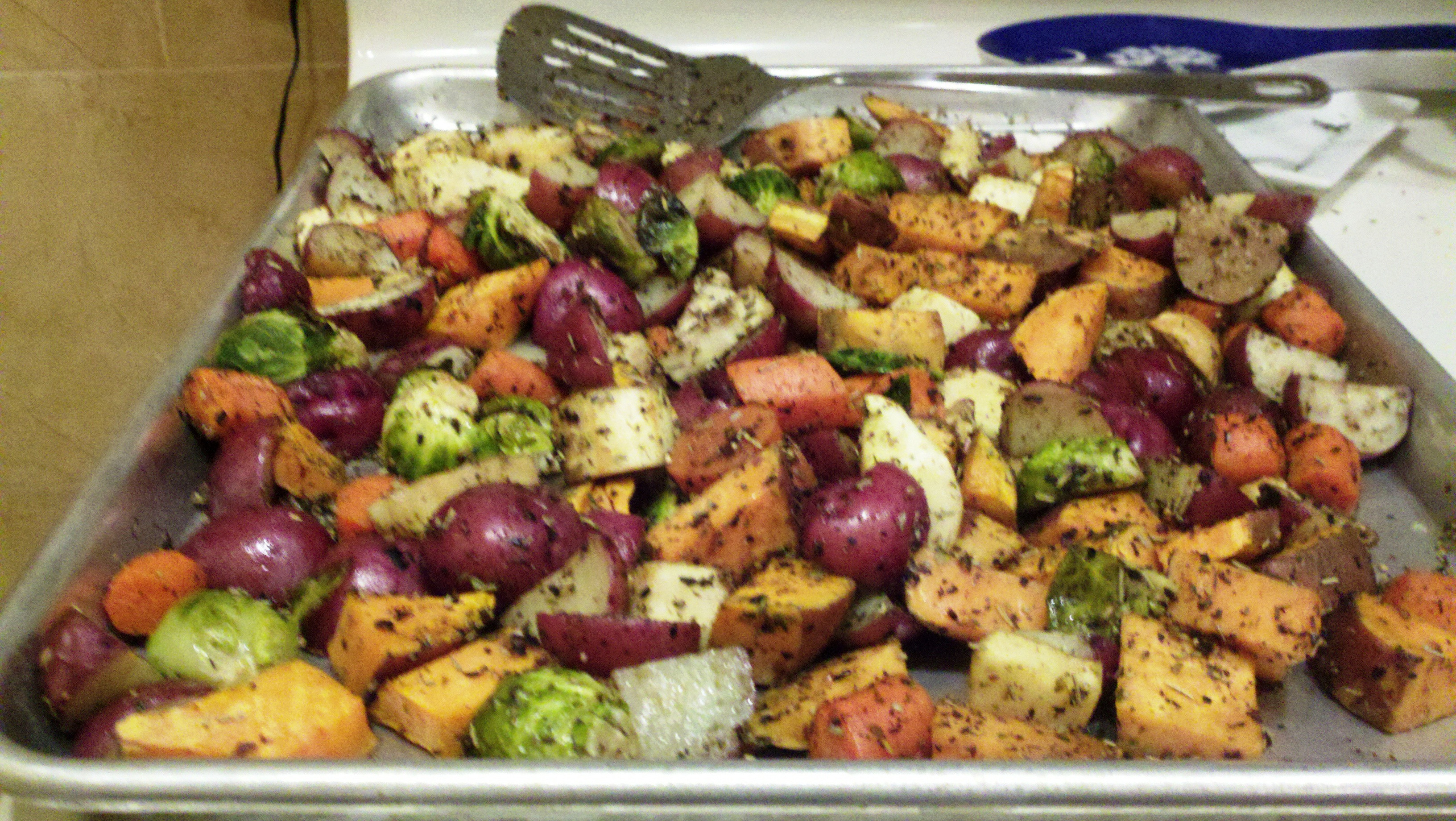 Roasted Vegetables Thanksgiving Recipe  thanksgiving ve able recipes green beans
