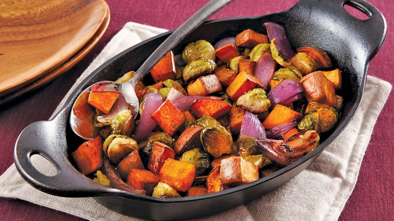 Roasted Vegetables Thanksgiving Recipe  Roasted Fall Ve ables recipe from Betty Crocker