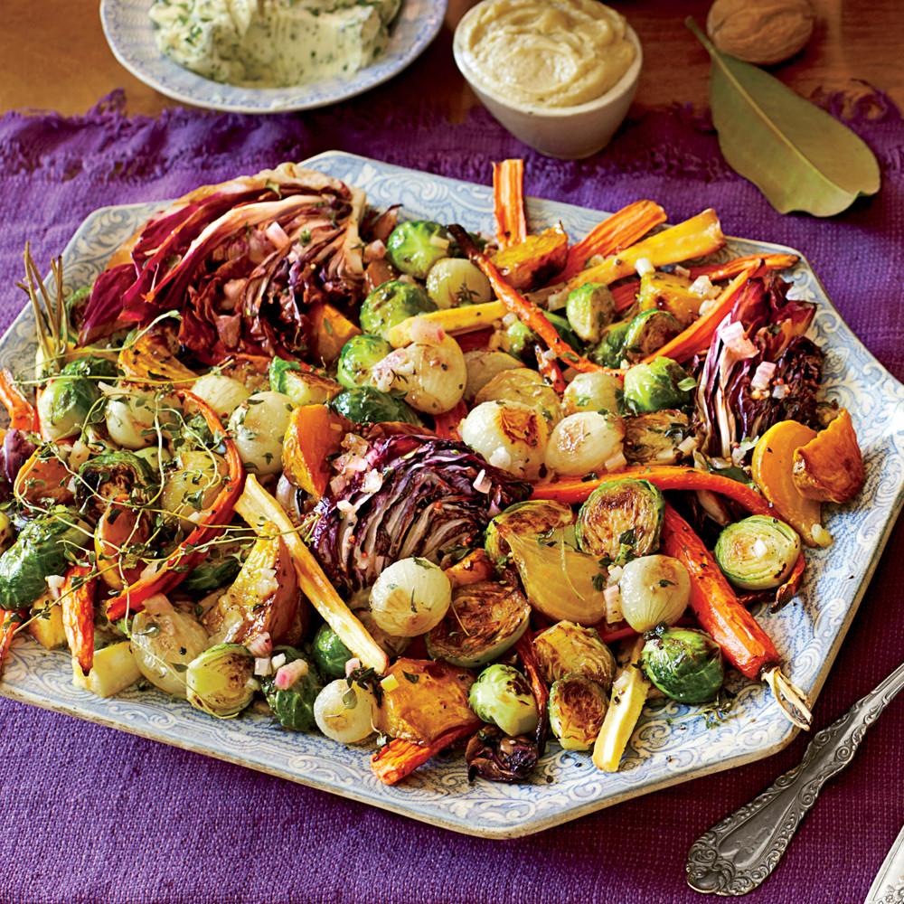 Roasted Vegetables Thanksgiving Recipe  Roasted Ve able Salad & Apple Cider Vinaigrette Recipe