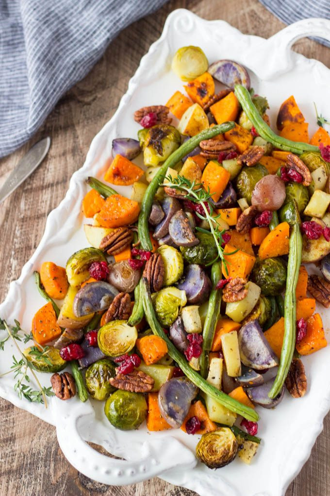 Roasted Vegetables Thanksgiving Recipe  Super Easy Roasted Winter Ve ables Simple Healthy Kitchen
