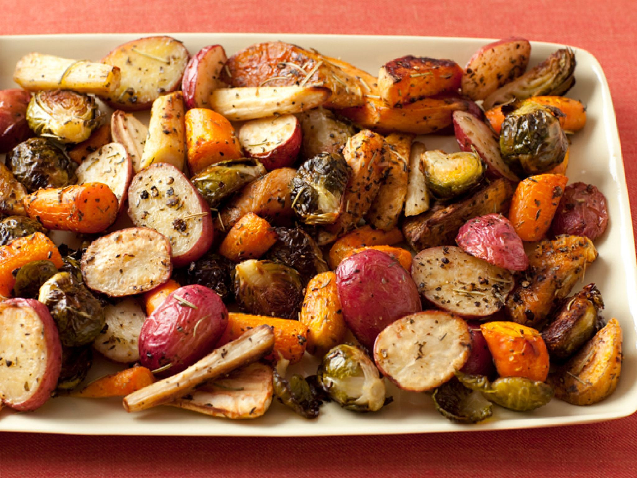 Roasted Vegetables Thanksgiving Recipe  100 Classic Thanksgiving Side Dish Recipes Food Network
