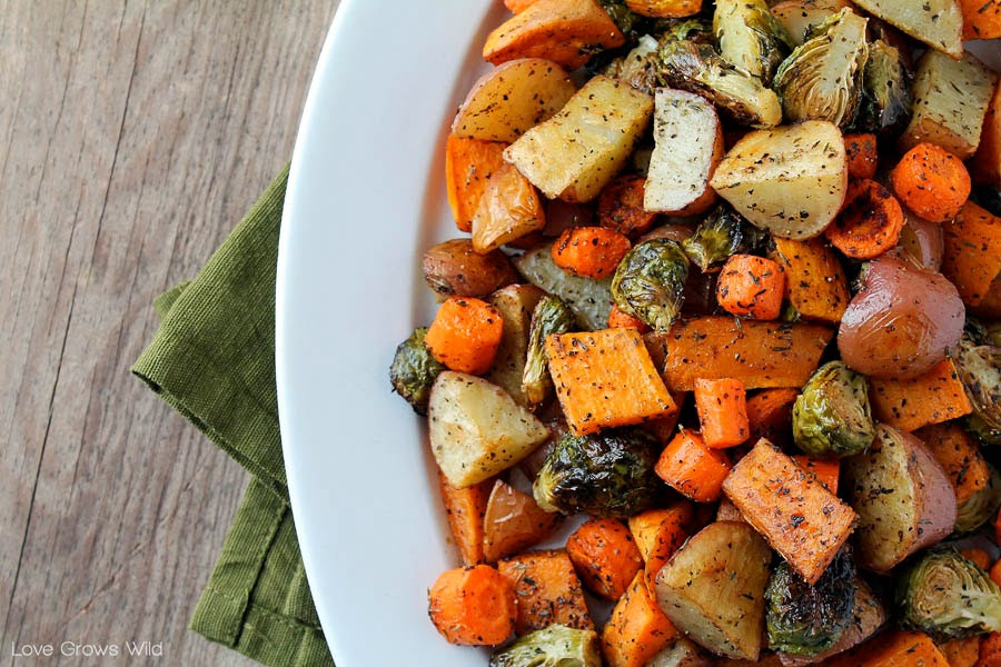 Roasted Vegetables Thanksgiving Recipe  Roasted Fall Ve ables Love Grows Wild