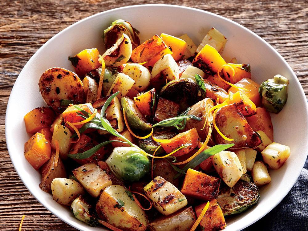 Roasted Vegetables Thanksgiving Recipe  Orange Tarragon Sheet Pan Roasted Ve ables Recipe
