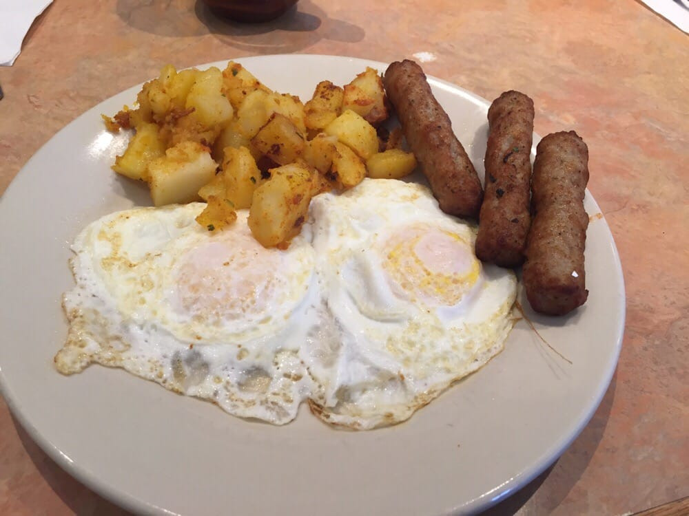 Rogers Hot Dogs Fall River  2 eggs over easy sausage links homefries Yelp