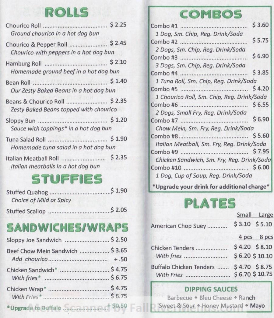 Rogers Hot Dogs Fall River  Faneek's Coney Island Restaurant