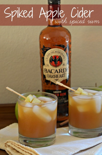 Rum Drinks For Fall  Spiked Apple Cider With Spiced Rum fall cocktails Mommy