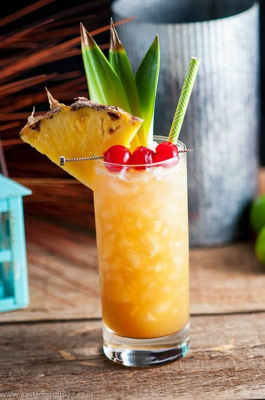 Rum Drinks For Fall  Fall in Paradise A Tropical Rum and Pineapple Tiki Cocktail