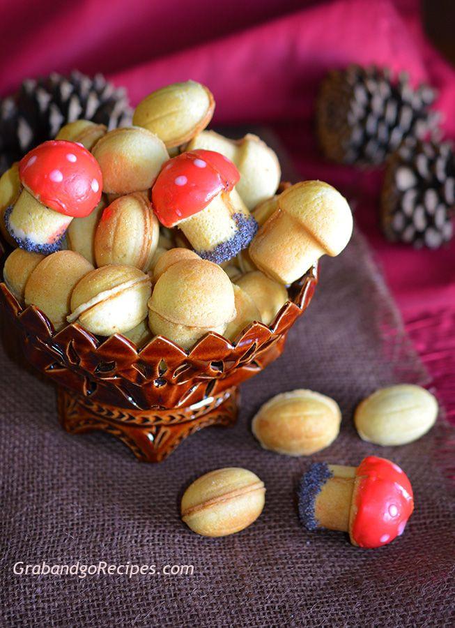 Russian Christmas Desserts  Oreshki and Gribochki – Walnut and Mushroom cookies with