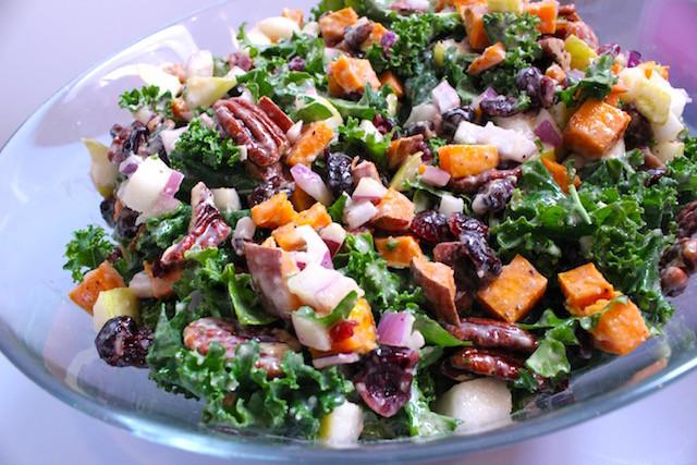 Salad For Thanksgiving Dinner  Thanksgiving Kale Salad with Maple Lemon Tahini Dressing
