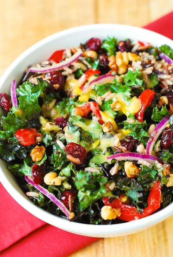 Salad For Thanksgiving Dinner  Kale salads Kale and Thanksgiving salad on Pinterest