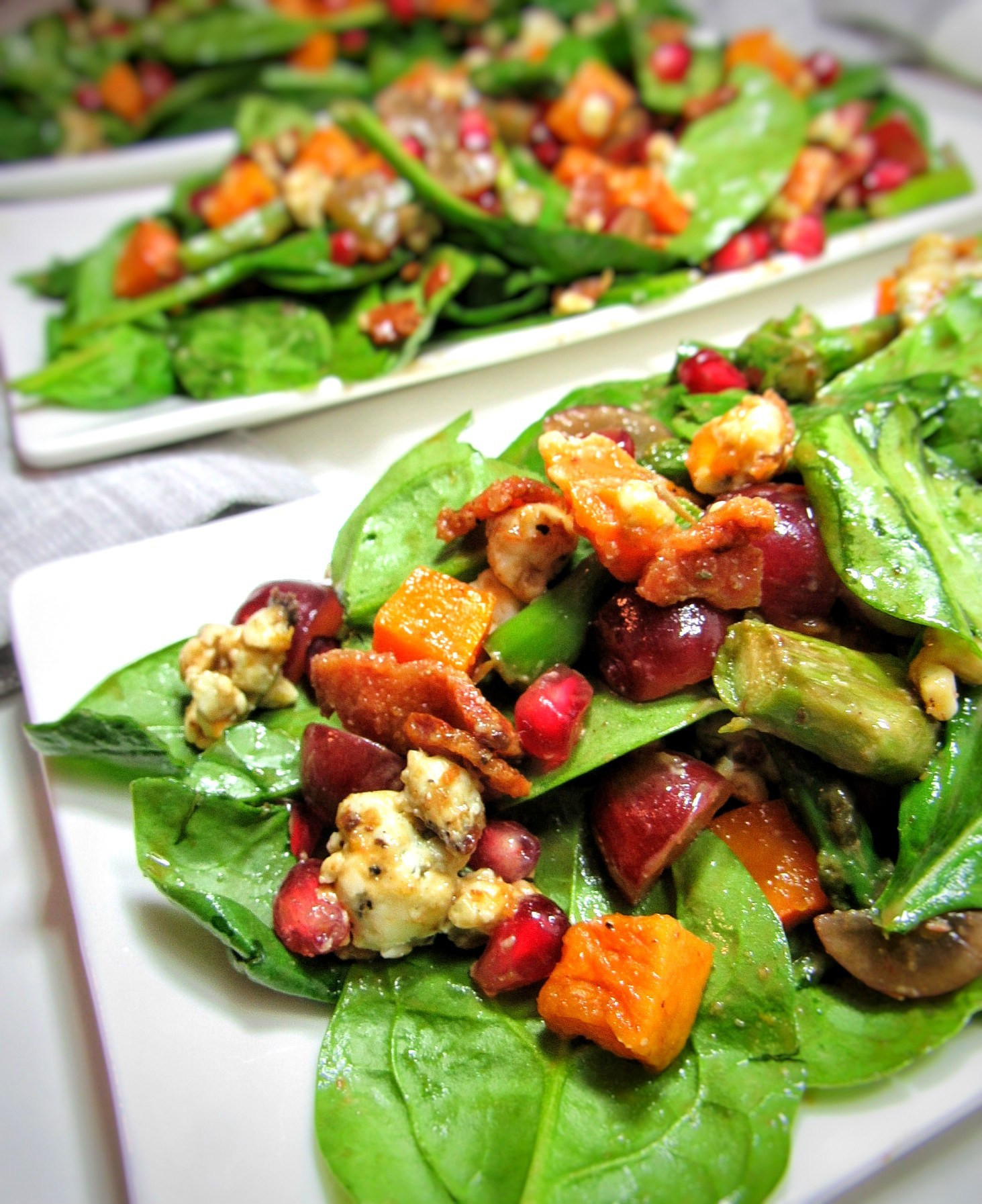 Salad For Thanksgiving Dinner  Thanksgiving Dinner Salad with Butternut Squash bits and