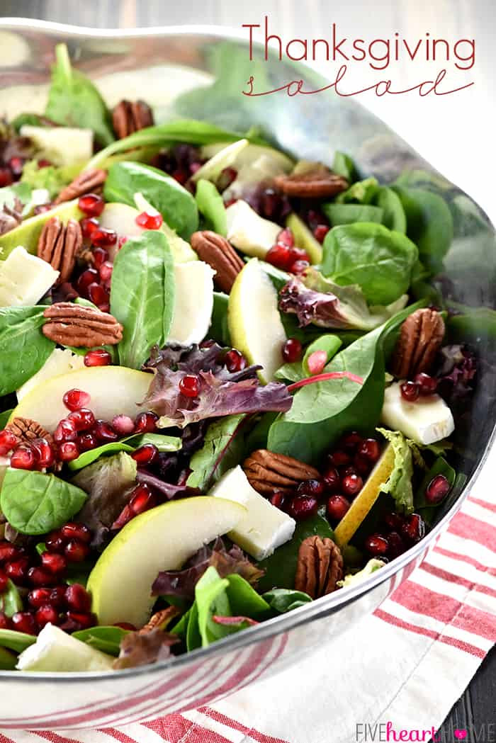 Salads For Thanksgiving  Thanksgiving Salad with Pomegranate Pears Pecans