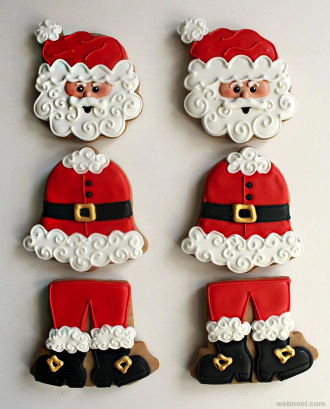 Santa Christmas Cookies  10 Best Christmas Cookie Designs and Decoration Ideas for you