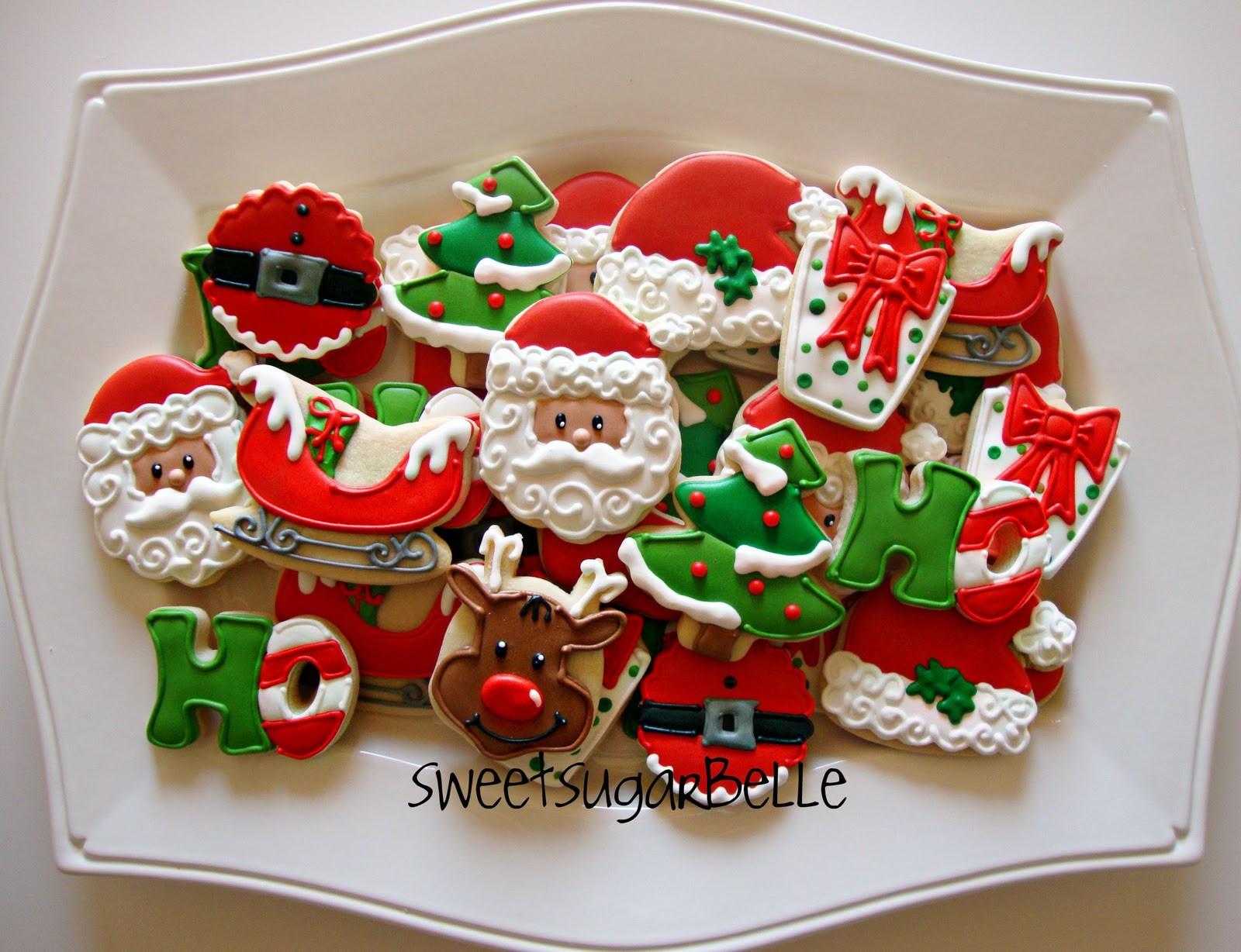 Santa Christmas Cookies  All Things Santa Platter – The Sweet Adventures of Sugar Belle